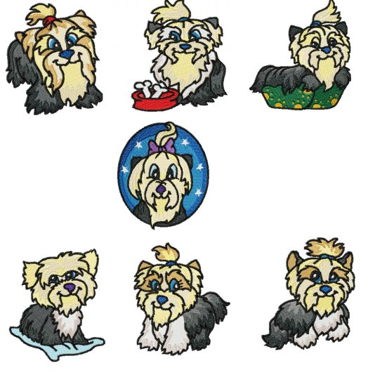 Sse yorkie collection yorkshire terrier machine